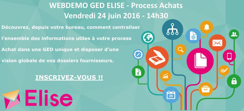 20160624 - Webdemo GED ELISE Achats