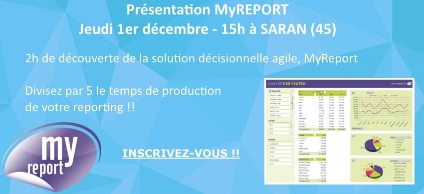 Inscription à la présentation MyReport à Saran le 1er décembre