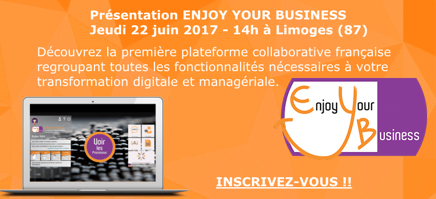 Présentation ENJOY YOUR BUSINESS Limoges